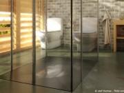 bodengleiche Dusche mit durchgehender Bodenplatte