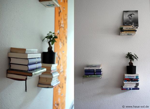 Bevorzugt Unsichtbares Bücherregal selber bauen: Komplette Anleitung UX33