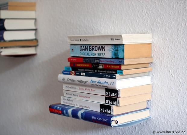 Gut bekannt Unsichtbares Bücherregal selber bauen: Komplette Anleitung ZG53