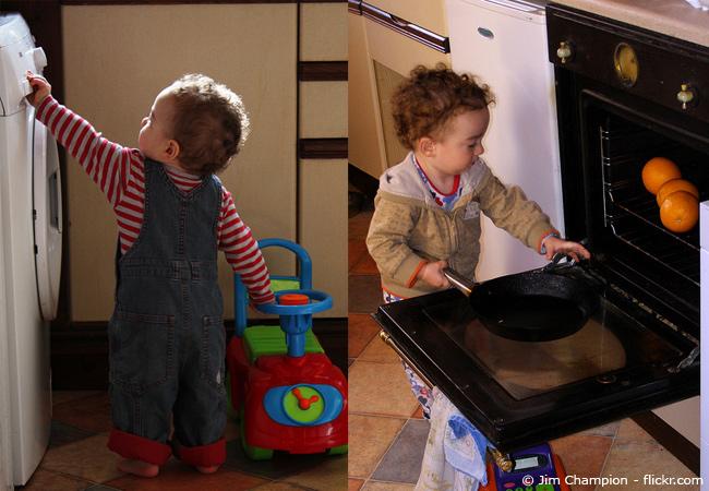 Kindersicherheit im Haushalt ist bei Kleinkindern besonders wichtig.