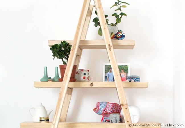 alte holzleiter als deko verwenden tipps und ideen wohnen hausxxl wohnen hausxxl. Black Bedroom Furniture Sets. Home Design Ideas