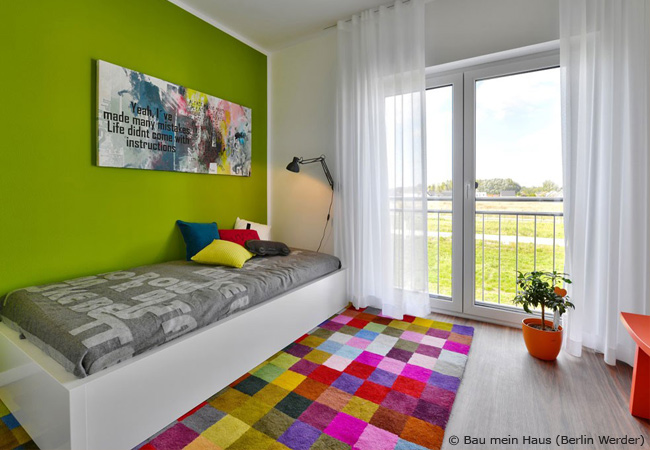 Jugendzimmer Wandgestaltung Farbe Minimalist Methodepilates