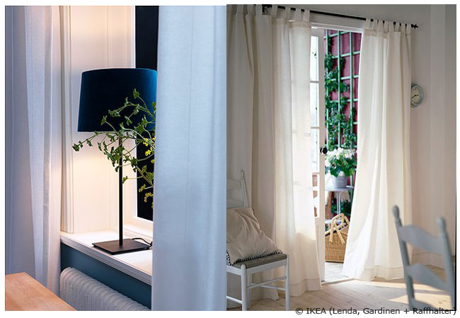 die sch nsten gardinen ideen f r jeden raum wohnen hausxxl wohnen hausxxl. Black Bedroom Furniture Sets. Home Design Ideas
