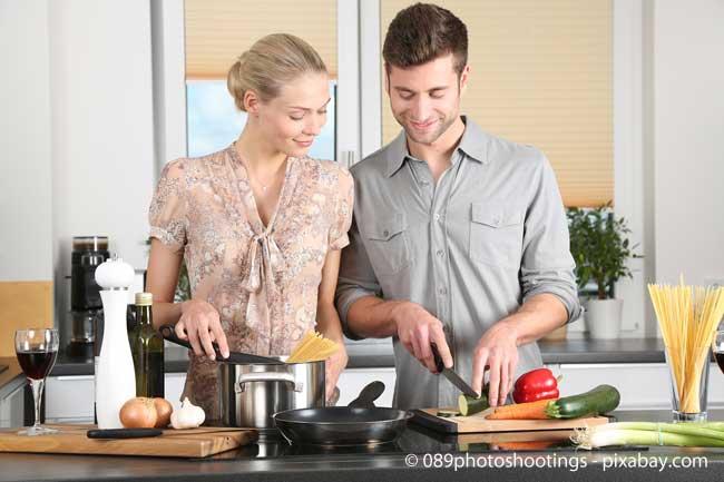 Ermitteln Sie Ihren persönlichen Bedarf in der Küche: Wer viel kocht, benötigt womöglich mehr Platz
