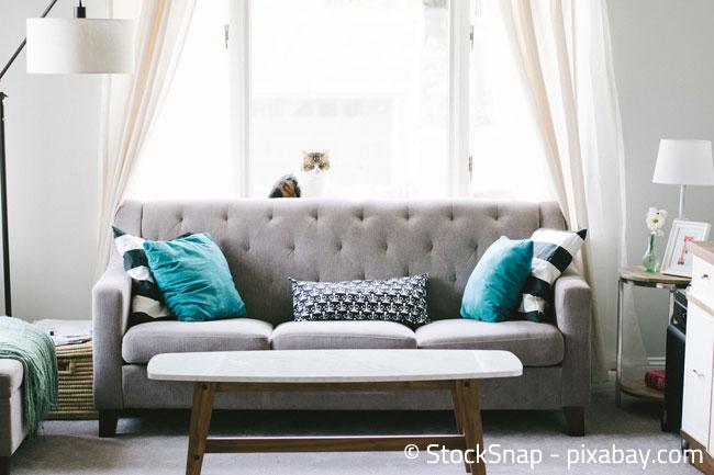 Gardinen im Wohnzimmer sorgen für gemütliches Flair