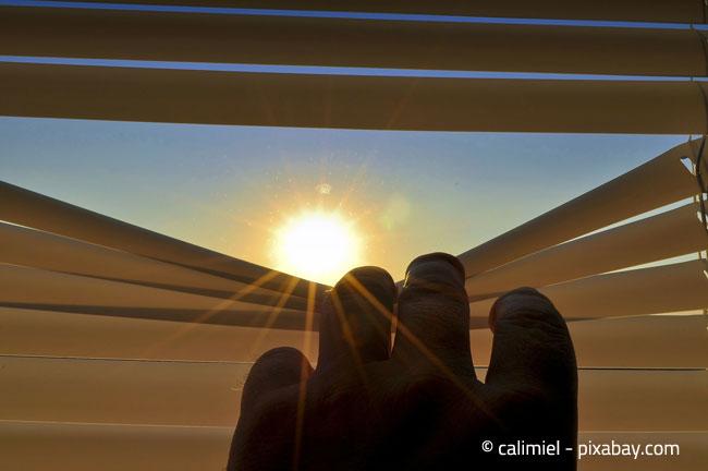 Jalousien und Rollläden helfen dabei, die Wohnung zu verdunkeln