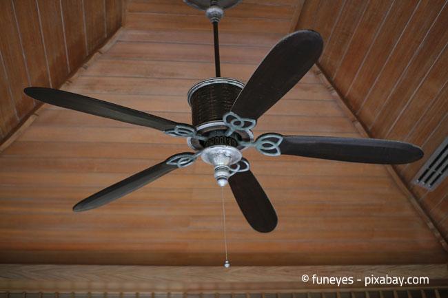 Ventilatoren sollten auf geringe Drehzahl gestellt werden, um Erkältungen zu vermeiden