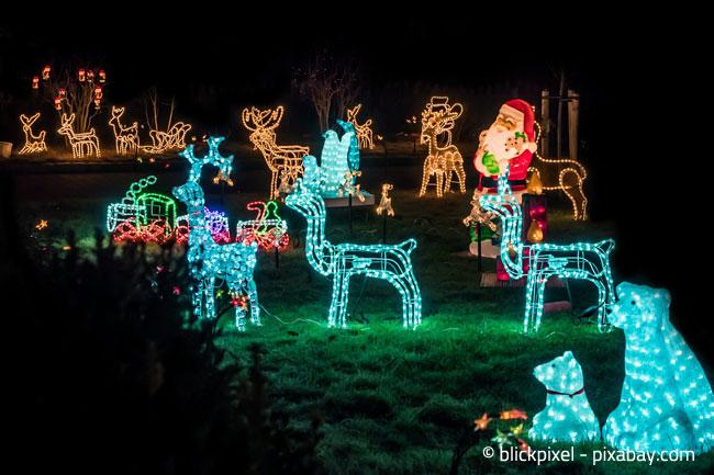 Denken Sie auch an Ihre Nachbarn und lassen Sie Ihre Weihnachtsbeleuchtung nicht die ganze Nacht angeschalten