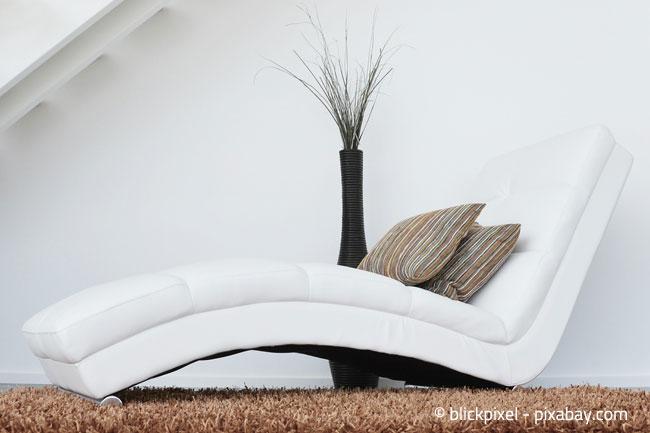 Eine Schräge eignet sich auch wunderbar als Platz zum Relaxen