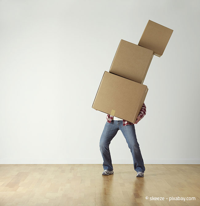 Die Drei-Kisten-Methode klingt erst einmal kompliziert, sorgt aber schnell für mehr Stauraum