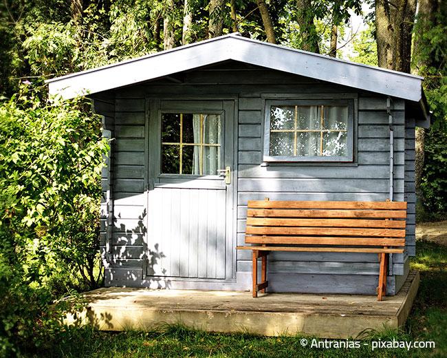 Gartenhäuser sind meist nicht als fester Wohnsitz geeignet