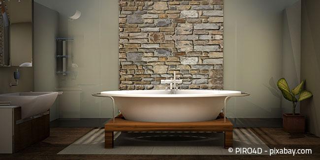 Eine runde Badewanne kann ein echtes Highlight im Badezimmer sein!