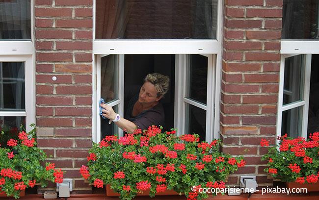 Auch die Fenster werden oft vernachlässigt. Der Frühjahrsputz ist eine gute Gelegenheit, diese wieder einmal gründlich zu reinigen.