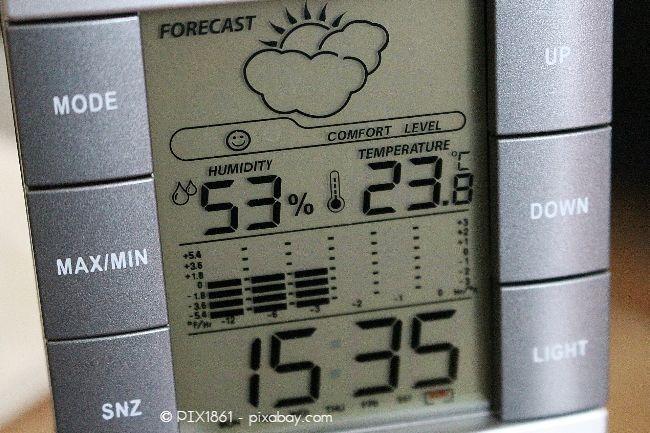 Achten Sie darauf, dass die Luftfeuchtigkeit nicht zu hoch ansteigt. 50-60 % sind optimal