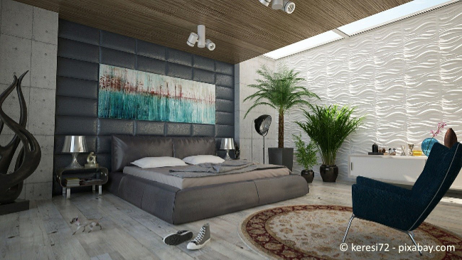 Auch die Wandfarbe ist wichtig dafür, dass Sie beruhigt schlafen können