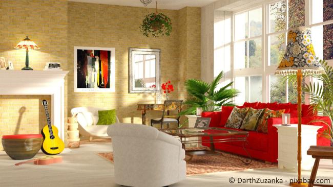 Warme Farbtöne wie Rot und Gelb sind wunderbare Herbsttöne.