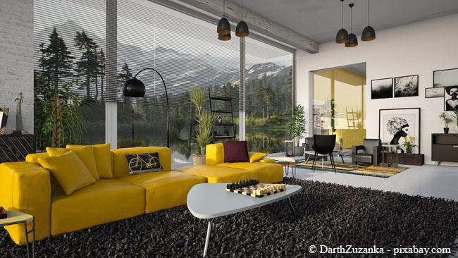 Ein Teppich sorgt immer für gemütliche Atmosphäre.